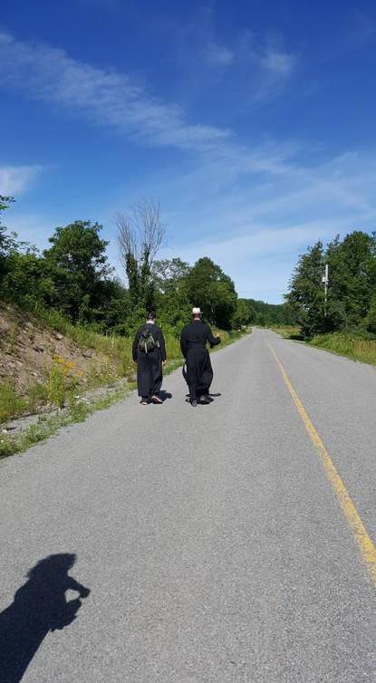 priests walking