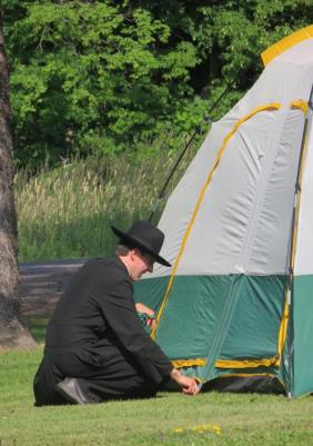 Fr. Stephen by tent