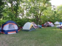 tents at Esmonde